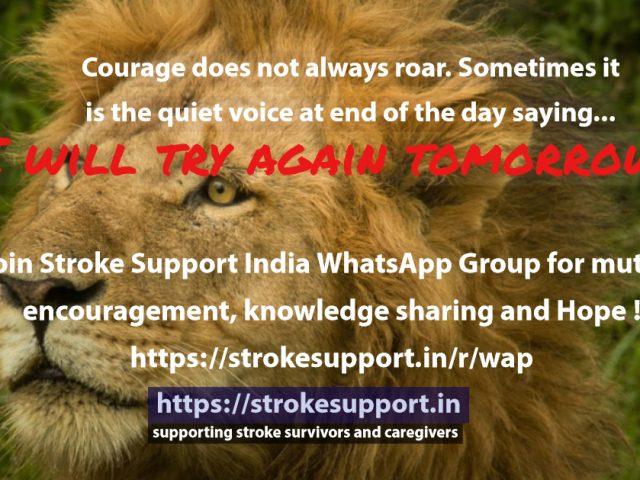 Courage does not always roar…