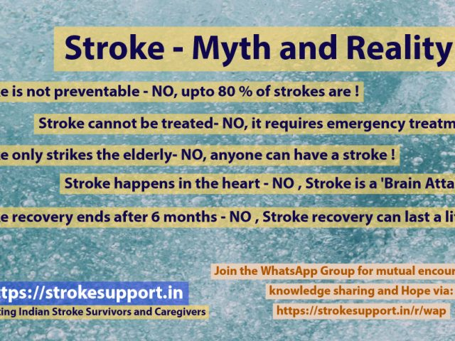 Stroke Myths – know the Truth and tell others – spread stroke awareness !