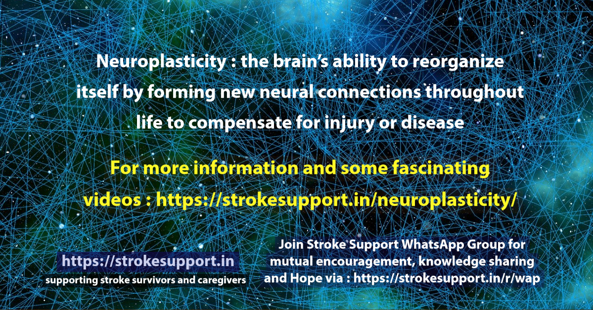 Neuroplasticity : the brain's ability to reorganize itself by  forming new neural connections throughout life to compensate for injury or disease