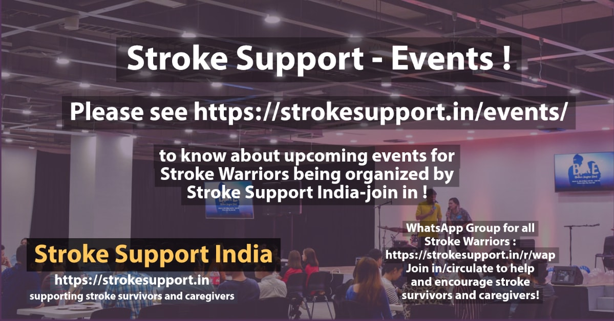 Upcoming Events Being Organized by Stroke Support India